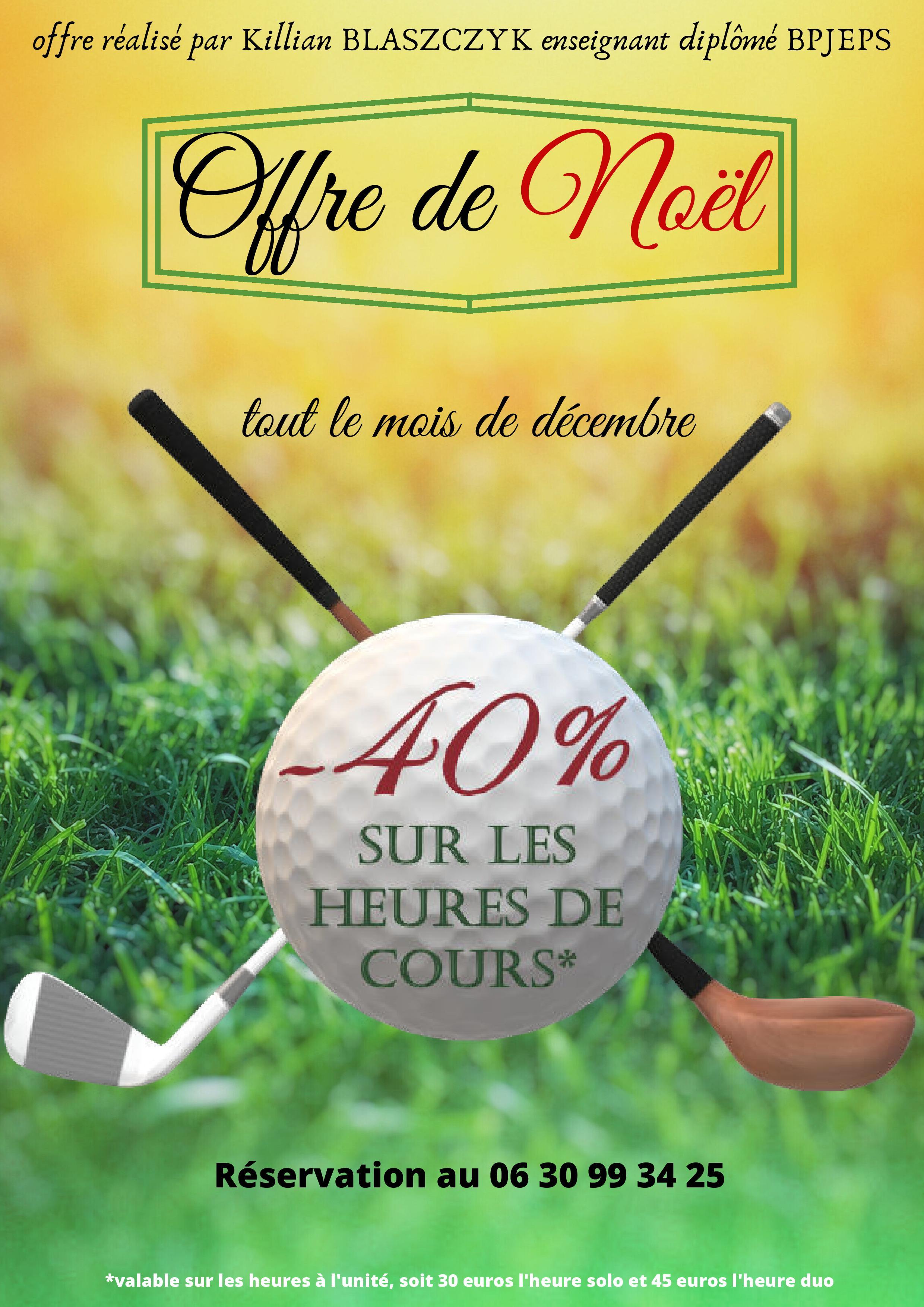 Cours de Golf -40% en décembre